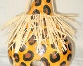 Leopard Print Gourd Birdhouse