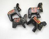 wooden elephant  beads - four (4) elephants