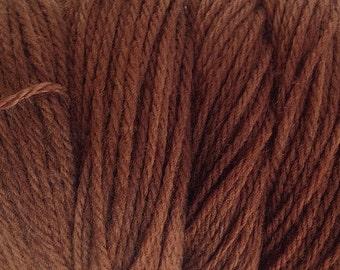 Bean Brown DK Sport Weight Hand Dyed Merino Wool Yarn