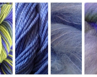 Hand Dyed Samples of Merino Wool DK Sport Weight Yarn in Early Crocus