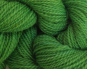 Merino Wool Yarn Lace Weight in Daddy Green Hand Painted