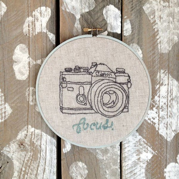 Items similar to focus camera quot embroidery hoop on etsy