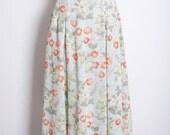 Mint Japonica Floral Skirt