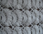 Snow white baby crochet blanket - ready to ship