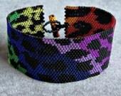 Rainbow Leopard Print - Peyote Pattern