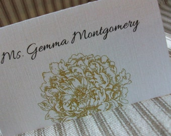 All Place and Escort cards are .55 each - Wedding Place - Escort Cards - Any Design and includes Personalization
