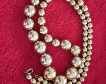 Gold Long Vintage Necklace