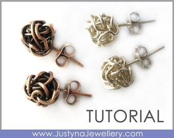 Wire Earrings Tutorial, Wire Wrapping Tutorial, Wire Knot, Knotted Wire, Stud Earrings, Post Earrings, Long Earrings, Pendant Tutorial