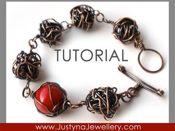 Wire Bracelet Tutorial, Bangle Tutorial, Wire Knot Tutorial, Caged Bead Tutorial, Toggle Clasp Tutorial, Wire Wrapping Jewelry Tutorial