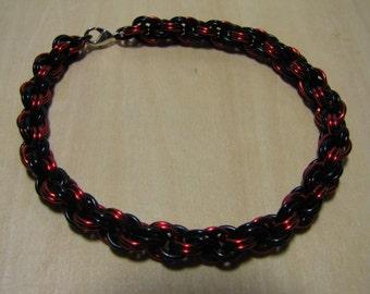 Red and Black Copper Bracelet