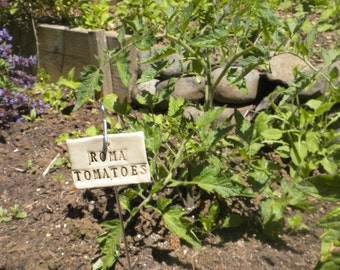Roma Tomatoes Plant Marker