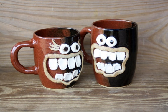 VALENTINES Day, His and Her Coffee MUGS