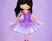 Purple wall art, kids art, ballerina tutu, nursery wall art, art for girls room, art for girls room, kids room art, girls wall art, poster