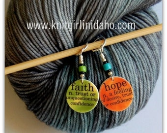 Faith and Hope Stitch Markers (Set of 2)