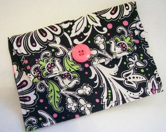 Black and Hot Pink  Photo Picture Envelope Coupon, Wallet, Organizer, Passport Case