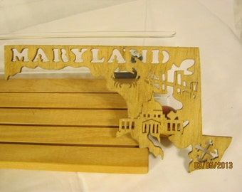 US STATE of MARYLAND Scroll Saw Plaque