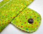 "Medium Flow FOLDABLE Cloth Menstrual Pad w/Wings 9"" - Lime Green"