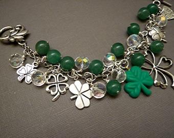 St. Patrick's Day Irish Bracelet Charm Bracelet Luck Bracelet Holiday Bracelet