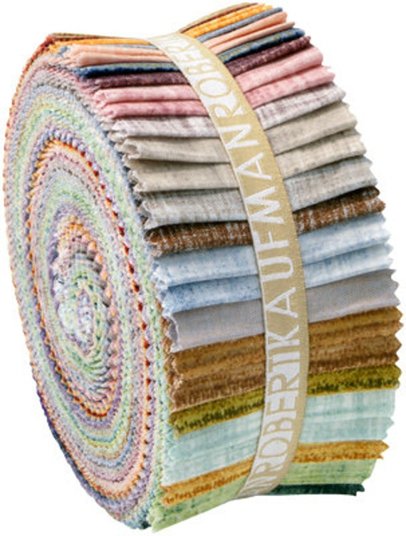Fusions Ombre Collection: Fusions Cotton Quilting Fabric Roll Up - 40 pieces total -  2.8 yards