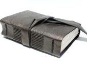 Metallic - Leather Journal or Sketchbook - Handmade