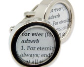 Wedding Cufflinks - Definition of  FOREVER - Love - Wedding Cuff links by Gwen DELICIOUS Jewelry Design