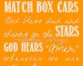 Godspeed (Sweet Dreams) lyrics 1 - orange, 8x10, INSTANT DOWNLOAD