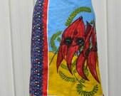 Sturt Desert Pea A-Line Wrap Skirt - Plus size 18-20