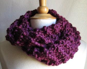 Cozy and Plush Plum Purple Cowl Scarf Neck Warmer