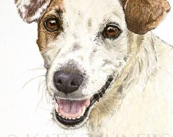 Jack Russell Terrier Art Print of Painting 8x10 Terrier Dog  Art