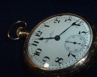 Gorgeous 18 Size 17 Jewels Hamilton Model 924 Pocket Watch