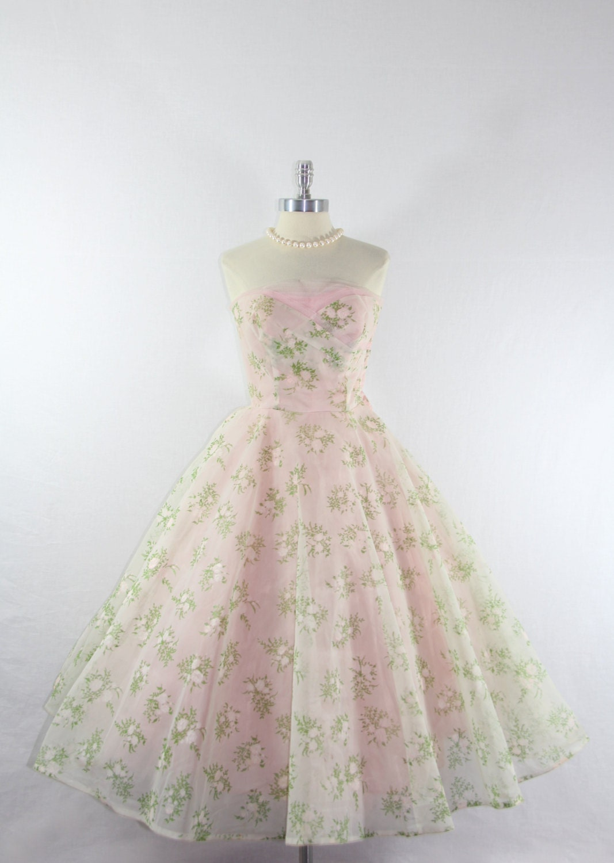 Vintage Prom Dress Etsy