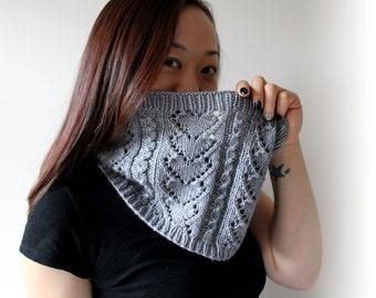 Eyelet Heart Knitting Pattern : Eyelet cowl Etsy