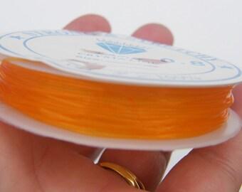 1 Roll elastic cord 0.8mm orange 7m