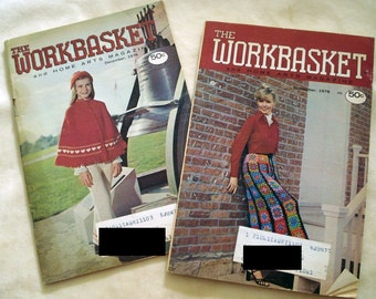 Vintage Workbasket and Home Art Craft Magazines, Set of Two