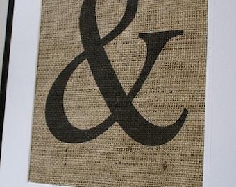 Free US Shipping...Choose Any Letter, Any Symbol Burlap Print