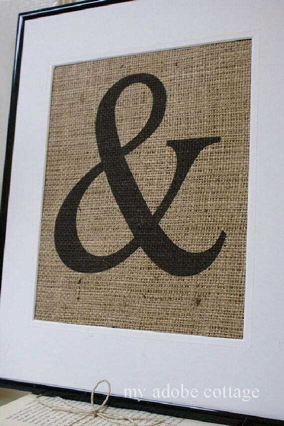 Choose Any Letter Any Symbol Burlap Print By Myadobecottage