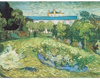 Wooden jigsaw puzzle. DAUBIGNY's GARDEN. Van Gogh. Impressionist. Impressionism. Wood, handcut, handcrafted, collectible. Bella Puzzles.
