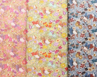 3 pcs of Liberty Hello kitty fabrics printed in Japan - Fairy Tale Garden - 2013