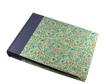 floral Photo Album Flower Meadow turquoise violet