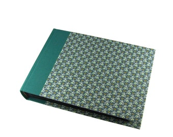 emerald green Wedding Album, Photo Album Olive leaves with chamois white pages and glassine interleaving