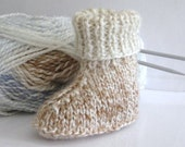 SALE **Designer Baby Knitting PATTERN - Hi Cuff Boots/Booties Uggs for Baby/Reborn from birth to 9 months Easy Knit