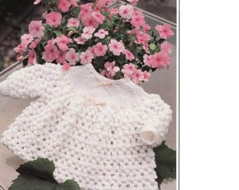 Baby Knitting PATTERN - Angel Top/Dress 18/19 inch and 20/21 inch sizes