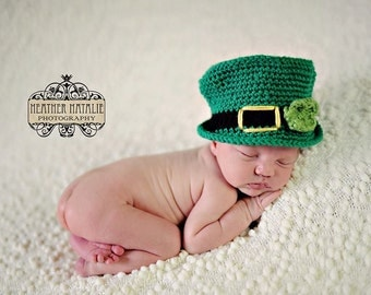 Baby boy hat, baby girl hat, crochet leprechaun hat, leprechaun hat, photo prop, baby shower gift, coming home outfit, st patricks day