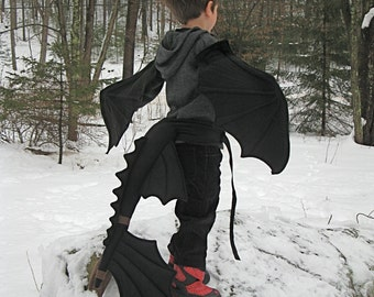 Toothless Wings & Tail Set for Bigger Fire Breathing Kids