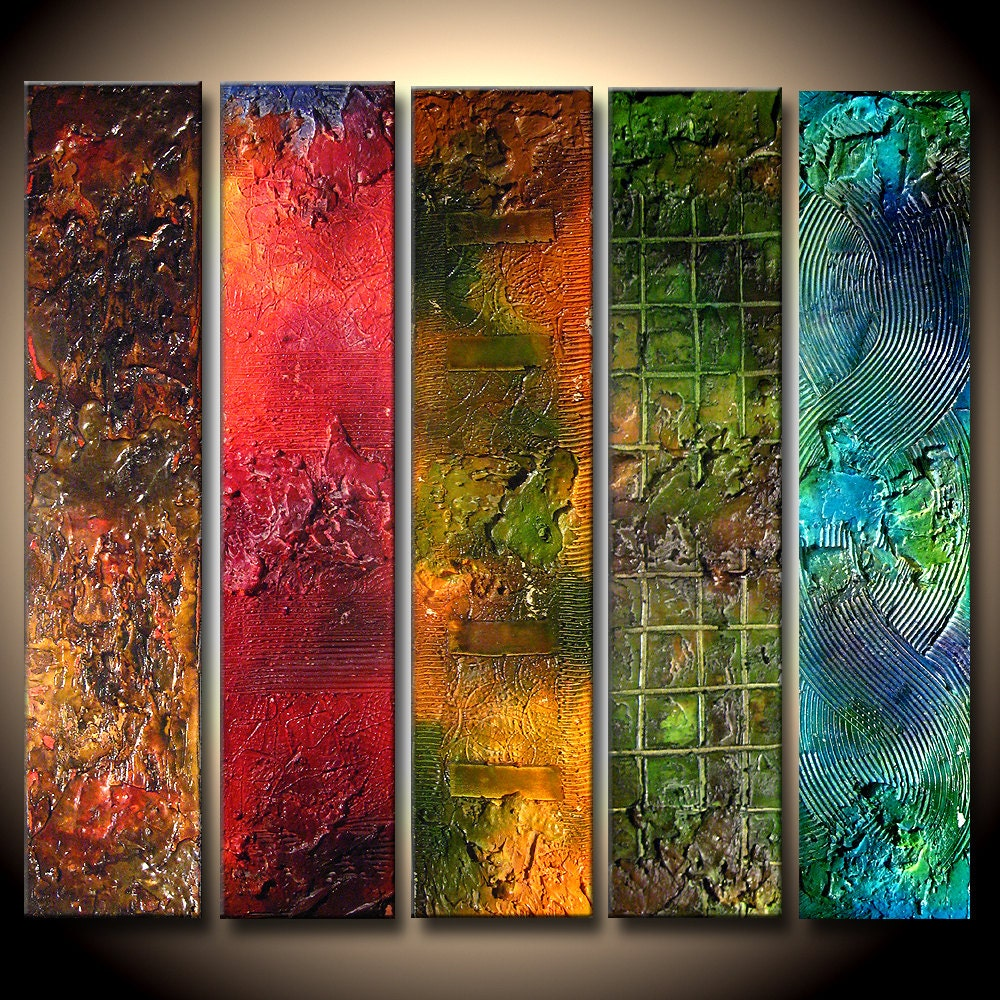 Abstract painting textured colorful abstract painting red for Texture painting on canvas