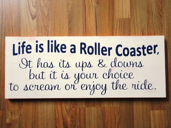 items similar to life is like a roller coaster 10 x 24 inches 1 sided gift for holidays. Black Bedroom Furniture Sets. Home Design Ideas