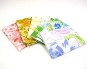 SMALL  Rainbow LOT (6)  Vintage Sheet Fat Quarters Material Fabric