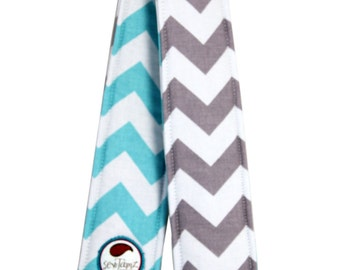 Football Sports Team Colors Chevron Camera Strap Cover - Pick your Chevron
