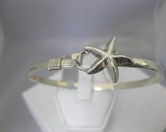 Sterling Silver Starfish Bangle Artisan Made