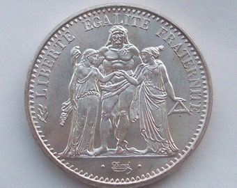 1965 French 10 Franc Coin Hercules